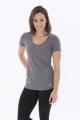 KOI ® TRIBLEND SCOOP NECK RELAXED LADIES' TEE