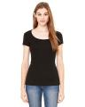 BELLA + CANVAS Ladies' Sheer Mini Rib Short-Sleeve Scoop Neck T-Shirt